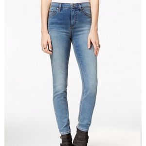 Free People Light Denim Skinny Jeans, NWT